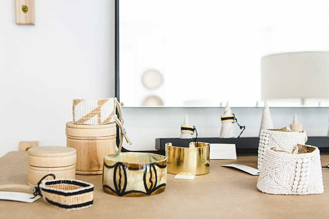 Trinkets and baskets from Asher & Roth