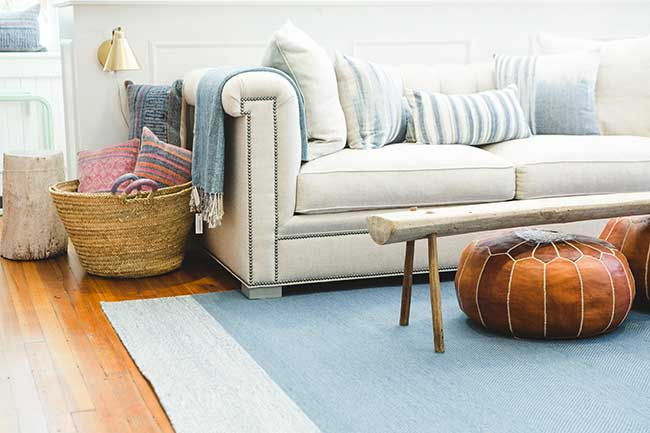 Couch and blankets by Asher & Roth decor