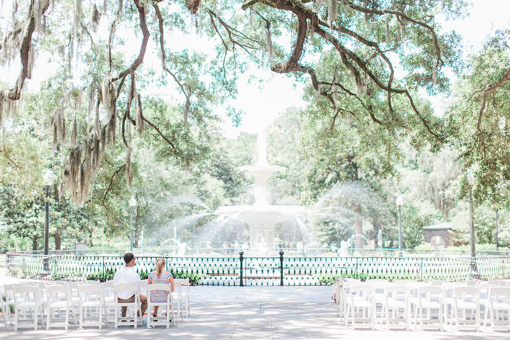 wedding at Forsyth Park, Savannah Georgia