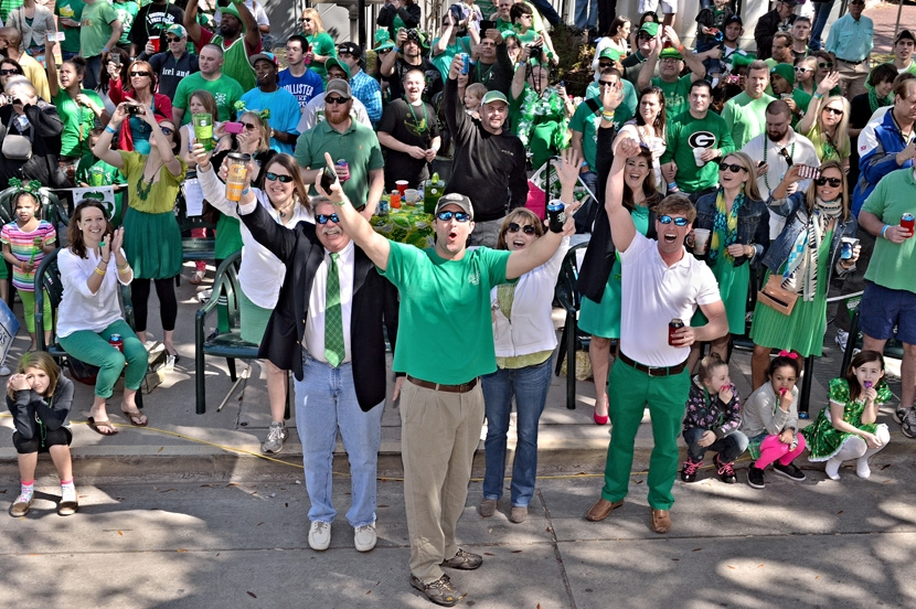 Lucky Savannah Vacation Rentals St. Patrick's Day Parade Crowd of People