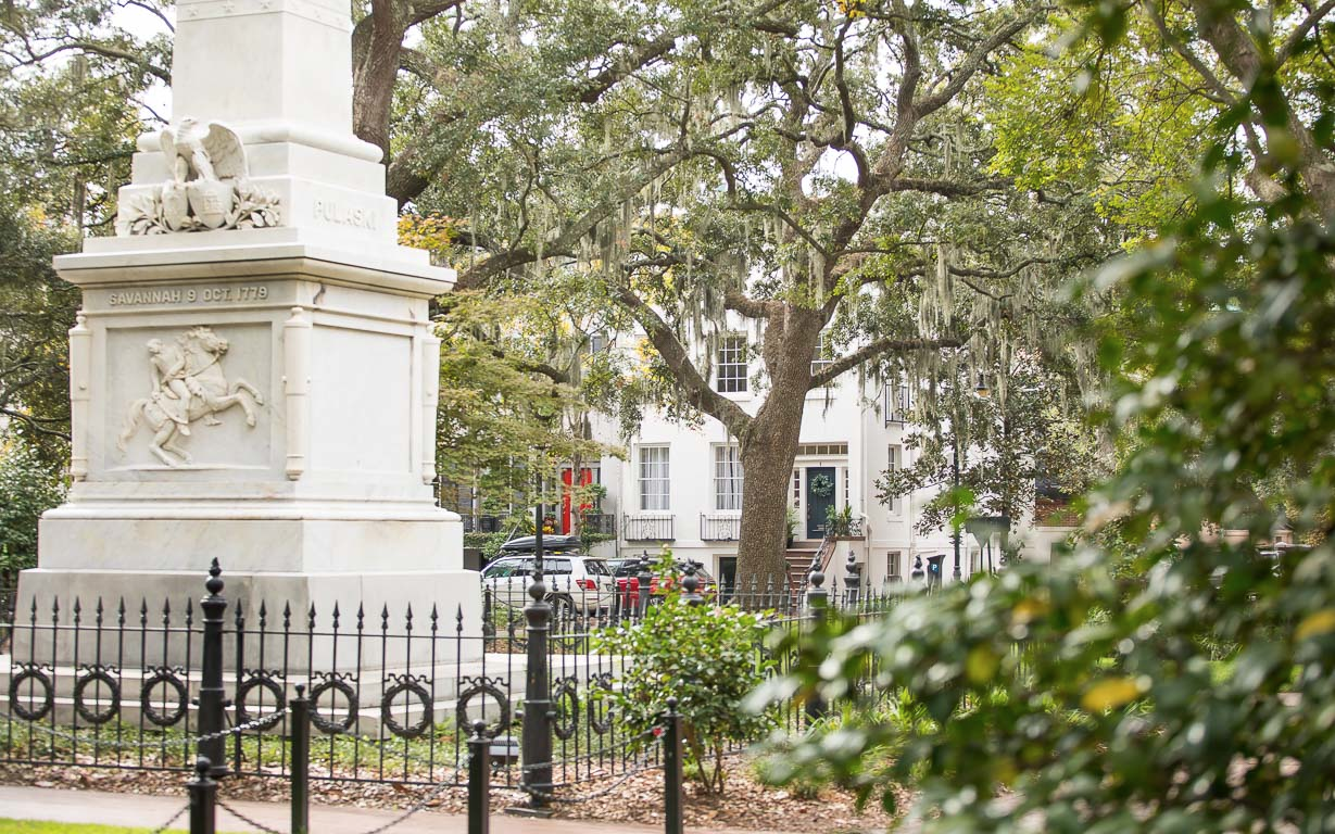 Monterey Square in Savannah, GA