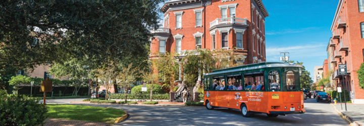 Discount tickets for trolley, museum, and walking tours in Savannah, GA