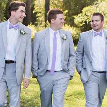 Groom and Groomsmen at Savannah Wedding