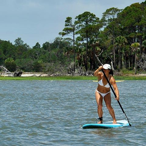stand up paddleboarding in Savannah