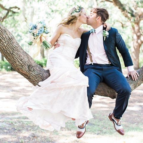 bride and groom of Savannah wedding