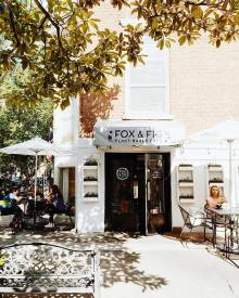 Lucky Savannah Outdoor Seating Bars Restaurants Fox & Fig Cafe