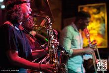 musicians playing at Savannah Stopover Festival